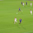 アドリアーノの1対1とゴール横のトリック看板