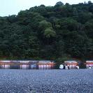 嵐山の鵜飼の屋形船